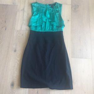 Green and black bcbg dress